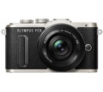 Olympus PEN E-PL8 + 14-42mm EZ Pancake Kit (Black/Silver)