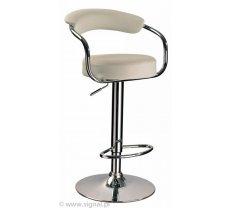 Krēsls C - 231 Platums: 35 cm, Dziļums: 35 cm, Augstums: 86 cm, Sēdvietas augstums: 62 cm, Materiāls: metāls, Apdare: eko āda, Krāsa: krēma