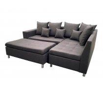 Dīvāns Aron Premium Standard Izvēlieties stūra novietojumu: Pa kreisi, Dīvāna tips: stūra dīvāni, Platums: 240 cm, Dziļums: 166 cm, Augstums: 80 cm, Sēdvietas augstums: 48 cm, Guļamvietas garums: 200 cm, Guļamvietas platums: 148 cm, Pildījums: Falista + putas (porolons), Apdare: audums, Ar pufu: 1, Ar papildu spilveniem: 1, izvelkamie: 1, Auduma numurs: Preston 100, Krāsa: melns
