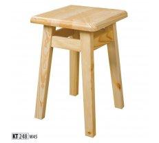 Krēsls KT 248 Augstums: 45 cm, Materiāls: dabīgs koks (priede), Krāsa: priede