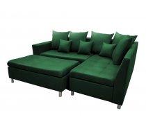 Dīvāns Aron Premium Standard Izvēlieties stūra novietojumu: Pa kreisi, Dīvāna tips: stūra dīvāni, Platums: 240 cm, Dziļums: 166 cm, Augstums: 80 cm, Sēdvietas augstums: 48 cm, Guļamvietas garums: 200 cm, Guļamvietas platums: 148 cm, Pildījums: Falista + putas (porolons), Apdare: audums, Ar pufu: 1, Ar papildu spilveniem: 1, izvelkamie: 1, Auduma numurs: Kronos 19, Krāsa: zaļš