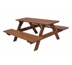 Dārza galds MO 260 Platums: 180 cm, Garums: 180 cm, Augstums: 81 cm, Materiāls: dabīgs koks (egle), Forma: taisnstūris, Krāsa: no palitras
