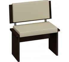 Krēsls Bond BON 02 sonoma tumša Platums: 75 cm, Dziļums: 43 cm, Augstums: 83 cm, Materiāls: laminēta KSP, Apdare: eko āda, Kājiņu krāsa: sonoma tumša, Krāsa: bēšs