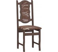 Krēsls Krzeslo C Platums: 40 cm, Diametrs: 43 cm, Augstums: 96 cm, Materiāls: laminēta KSP, Apdare: audums, Kājiņu krāsa: sonoma tumša, Krāsa: Sonoma tumša