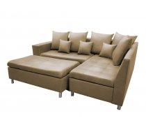 Dīvāns Aron Premium Standard Izvēlieties stūra novietojumu: Pa kreisi, Dīvāna tips: stūra dīvāni, Platums: 240 cm, Dziļums: 166 cm, Augstums: 80 cm, Sēdvietas augstums: 48 cm, Guļamvietas garums: 200 cm, Guļamvietas platums: 148 cm, Pildījums: Falista + putas (porolons), Apdare: audums, Ar pufu: 1, Ar papildu spilveniem: 1, izvelkamie: 1, Auduma numurs: Kronos 35, Krāsa: dzeltens