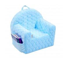 Mīksts krēsls Kid Platums: 50 cm, Dziļums: 35 cm, Augstums: 45 cm, Apdares materiāli: audums, Pildījums: putas (porolons), Ar roku balstiem: 1, Krāsa: gaiši zils