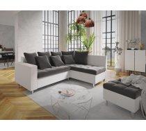 Dīvāns Aron Comfort Standard Platums: 240 cm, Izvēlieties stūra novietojumu: Pa labi, Dīvāna tips: stūra dīvāni, Augstums: 80 cm, Guļamvietas garums: 200 cm, Guļamvietas platums: 148 cm, Pildījums: Falista + putas (porolons), Apdare: audums + eko āda, Ar