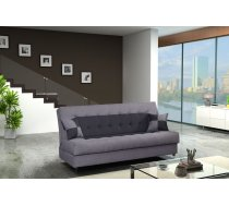 Dīvāns Tornado standard Dīvāna tips: taisni dīvāni, Platums: 190 cm, Dziļums: 90 cm, Augstums: 90 cm, Guļamvietas garums: 190 cm, Guļamvietas platums: 120 cm, Pildījums: Bonell atsperes + Falista atsperes + putas (porolons), Apdare: audums, Ar veļas kasti: 1, izvelkamie: 1, Auduma numurs: Lux 23 + Lux 06, Krāsa: melns + pelēks
