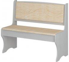 Krēsls ZKU 02 balts ozols Platums: 103.6 cm, Dziļums: 48.2 cm, Augstums: 88 cm, Materiāls: laminēta KSP, Apdare: audums, Kājiņu krāsa: balts ozols, Krāsa: smilšu