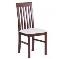 Krēsls Nilo 1 Platums: 43 cm, Dziļums: 40 cm, Augstums: 96 cm, Sēdvietas augstums: 48 cm, Materiāls: dabīgs koks (dižskābardis), Krāsa: balts