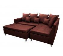 Dīvāns Aron Premium Standard Izvēlieties stūra novietojumu: Pa kreisi, Dīvāna tips: stūra dīvāni, Platums: 240 cm, Dziļums: 166 cm, Augstums: 80 cm, Sēdvietas augstums: 48 cm, Guļamvietas garums: 200 cm, Guļamvietas platums: 148 cm, Pildījums: Falista + putas (porolons), Apdare: audums, Ar pufu: 1, Ar papildu spilveniem: 1, izvelkamie: 1, Auduma numurs: Kronos 02, Krāsa: tumši sarkans