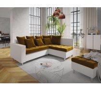 Dīvāns Aron Comfort Standard Platums: 240 cm, Izvēlieties stūra novietojumu: Pa kreisi, Dīvāna tips: stūra dīvāni, Augstums: 80 cm, Guļamvietas garums: 200 cm, Guļamvietas platums: 148 cm, Pildījums: Falista + putas (porolons), Apdare: audums + eko āda, A