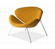 Krēsls Major Platums: 84 cm, Dziļums: 49 cm, Augstums: 72 cm, Sēdvietas augstums: 36 cm, Materiāls: metāls, Apdare: audums, Krāsa: gaišs rieksts