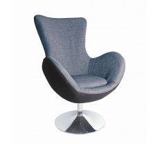 Krēsls Butterfly Platums: 76 cm, Dziļums: 75 cm, Augstums: 95 cm, Sēdvietas augstums: 43 cm, Materiāls: tērauds, Apdare: audums, Krāsa: pelēks