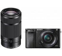 Sony a6000 E-mount fotokamera + 16-50mm un 55-210mm objektīvs | ILCE-6000Y/B | ILCE6000YB.CEC | 4905524974539