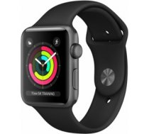 Apple Watch Series 3 GPS, 38mm Space Grey Aluminium Case with Black Sport Band MTF02MP/A