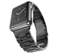 Luxury Three Beads Stainless Steel Watch Strap priekš Apple Watch Series 4 / 5 (40mm) / Series 1/2/3 (38mm) - Melns - siksniņas (jostas) viedpulksteņiem no nerūsējoša tērauda