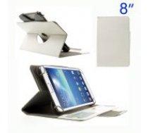 Universal 8-inch 16:9 Crazy Horse Swivel Stand Leather Cover for iPad mini 3 / Samsung Galaxy Tab T310 T330, Size: 21.5 x 13.5cm - sāniski atverams maciņš ar stendu (ādas maks, grāmatiņa, leather book wallet case cover stand)