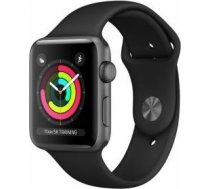 Apple Watch Series 3 GPS, 38mm Space Grey Aluminium Case with Black Sport Band / MTF02MP/A