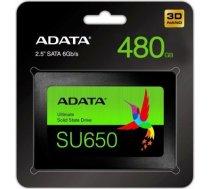 Adata SSD Ultimate SU650 480G 2.5 S3 3D TLC Retail / ASU650SS-480GT-R