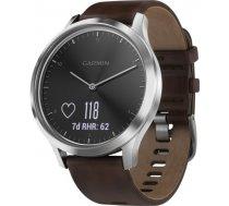 Garmin vivomove HR Premium silver/dark brown L / 010-01850-04