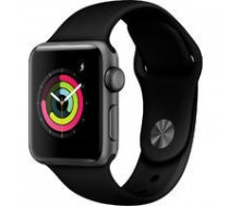 Apple Watch Series 3 GPS, 38mm Space Grey Aluminium Case with Black Sport Band,  A1858 | MTF02EL/A  | 190199310551