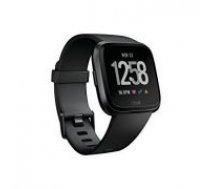 Fitbit Versa Black Aluminium with Black band melns Smart-pulkstenis