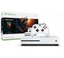 Microsoft Xbox One S 1TB white + Shadow of the Tomb Raider balts Microsoft XBOX aparatūra