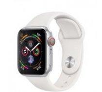 Apple Watch Series 4 40mm Silver Aluminum White Sport band GPS+Cellurar MTVA2 sudrabs balts Smart-pulkstenis