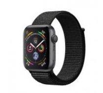 Apple Watch Series 4 40mm Space Grey Aluminum Black Sport Loop GPS MU672 pelēks melns Smart-pulkstenis