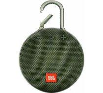 Portable Speaker|JBL|CLIP 3|Portable/Waterproof/Wireless|1xAudio-In|1xMicro-USB|Bluetooth|Green|JBLC JBLCLIP3GRN