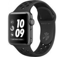 Apple Watch Nike+ Series 3 GPS, 42mm Space Grey Aluminium Case with Anthracite/Black Nike Sport Band MTF42MP/A
