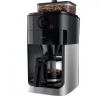 Philips Grind & Brew Coffee maker HD7767/00 With glass jug Integrated coffee grinder Black & metal With timer / HD7767/00