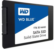 SSD | WESTERN DIGITAL | Blue | 1TB | SATA 3.0 | TLC | Write speed 530 MBytes / sec | Read speed 560 MBytes / sec | 2,5"
