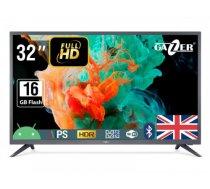 "TV Set   GAZER   32""   Smart / FHD   1920x1080   Wireless LAN   Bluetooth   Android   Graphite   TV32-FS2G"
