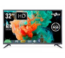 "TV Set   GAZER   32""   Smart / HD   1366x768   Wireless LAN   Bluetooth   Android   Graphite   TV32-HS2G"