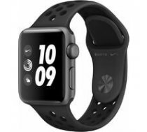 APPLE Apple Watch Nike+ Series 3 GPS, 38mm Space Grey Aluminium Case with Anthracite/Black Nike Sport Band, Model A1858 | MTF12EL/A