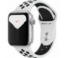 APPLE Apple Watch Nike Series 5 GPS, 40mm Silver Aluminium Case with Pure Platinum/Black Nike Sport Band Model nr A2092 | MX3R2EL/A