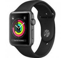 APPLE Apple Watch Series 3 GPS, 38mm Space Grey Aluminium Case with Black Sport Band, Model A1858 | MTF02EL/A