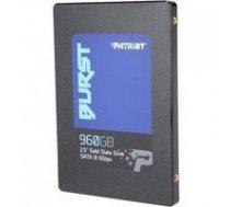 Patriot  SSD Burst 960GB 2.5'' SATA3 6GB/s read/write 560/540 MBps, 3D NAND Flash | PBU960GS25SSDR  | 814914025079