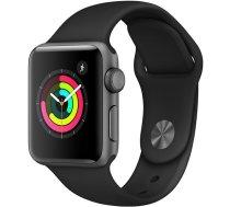 Apple Watch Apple Watch Series 3 GPS, 38mm Space Grey Aluminium Case with Black Sport Band, Model A1858 MTF02EL/A