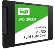 """SSD cietais disks SSD WESTERN DIGITAL Green 120GB SATA 3.0 TLC Read speed 545 MBytes/sec 2,5"""" MTBF 1000000 hours WDS120G2G0A"""