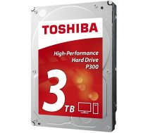 "Cietais disks HDD TOSHIBA P300 3TB SATA 3.0 64 MB 7200 rpm 3,5"" HDWD130UZSVA"
