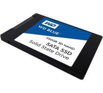 """SSD cietais disks SSD WD Blue (2.5"""", 250GB, SATA III 6 Gb/s, 3D NAND Read/Write: 550 / 525 MB/sec, Random Read/Write IOPS 95K/81K) WDS250G2B0A"""