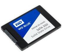 """SSD cietais disks SSD WD Blue (2.5"""", 500GB, SATA III 6 Gb/s, 3D NAND Read/Write: 560 / 530 MB/sec, Random Read/Write IOPS 95K/84K) WDS500G2B0A"""