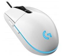 Spēļu pele Logitech G102 Lightsync White, vadu, optiskā