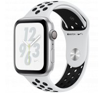 AppleWatch Nike+ Series4 GPS, 44mm Silver Aluminium Case with Pure Platinum/Black Nike Sport Band, Model A1978