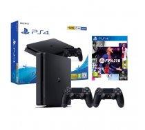Sony PlayStation 4 Slim 500GB Ekstra Pults Controller FIFA 21 Melna (Jauna)