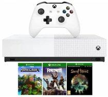 Microsoft Xbox One S 1TB All-Digital Edition white+Minecraft+Sea of Thieves+Fortnite+skn 2000V-bucks