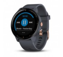 Garmin Vivoactive 3 Music (Granite Blue with Rose Gold Hardware)